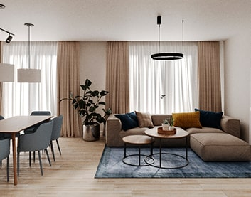 Дизайн интерьера квартиры в Горках заказать