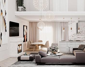 Дизайн интерьера дома в Горках на заказ