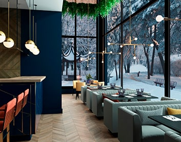 Дизайн интерьера ресторана в Толочине заказать