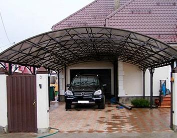 Навесы для машин из поликарбоната в Барановичах купить