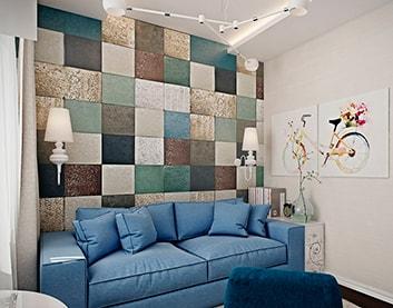 Мягкая стеновая панель «Квадрат» в Дубровно купить