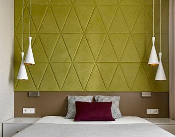 Мягкая стеновая панель «Треугольники» в Дубровно