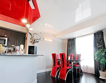 Натяжные потолки на кухню в Берёзовке