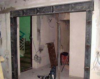 Усиление проёмов стены в Столине