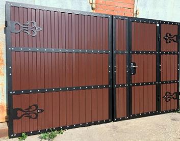 Ворота с калиткой в Витебске