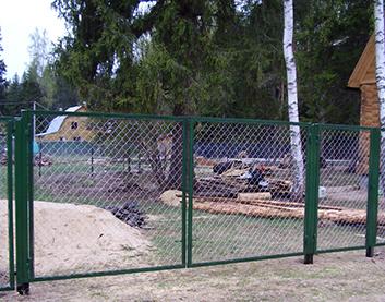 Ворота из сетки рабицы - Высокое (Брестская область)